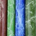 Couro do PVC do teste padrão da grão de mármore para a mobília (918 #)