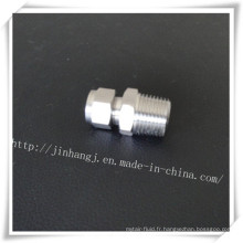 Raccords droits en acier inoxydable avec le fil (304/316)