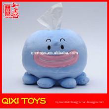 Wholesale octopus tissue box plush tissue paper box