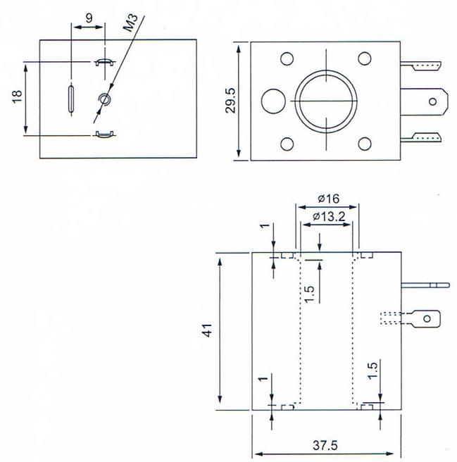Dimension of BB13241002 Solenoid Coil: