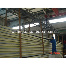 high quality color steel PU sandwich panel for wall and roof/pu sandwich panel / sandwich panel / polyurethane sandwich