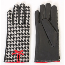 Lady Fashion Sheepskin Leather Driving Dress Gloves (YKY5169-2)