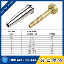 Cortar peças de tocha bocal / ponta de corte de gás bocal de gás 6290NFF