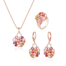 Fashionable Multicolor Stone Jewelry Set for Women