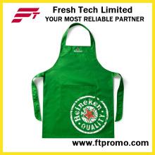 100% poliéster / algodón Alta calidad personalizado impreso promocional babero de cocina