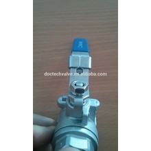 DN15 Good Quality Heavy Type R-PTFE Stainless Steel /Cast Steel Double Thread Float 2-PC Ball Valve Locking Lever Available