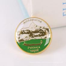 Gute Qualität Niedrige Preis-runde Form-Gewohnheits-Metallknopf-Abzeichen