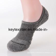 Chaussettes de sport à cheville invisibles pour hommes en coton avec semelle Terry (MA700)