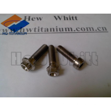 high quality titanium flange head bolt