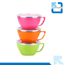 Popular Korean Style Stainless Steel and Plastic Bowls and Instant Noodle Cup