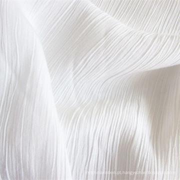 Tecido Crepe Rayon para Tecido Branco de Camisa / Vestuário