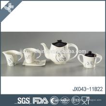 Flower linha decalque design personalizado porcelana porcelana real chá conjuntos