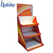 Étagère portative à double face portative, étagères se pliantes de livre de bibliothèque, étagère de livre de carton