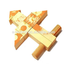 Brinquedo de blocos de madeira de construção de blocos de edifício de madeira tijolos blocos para adulto
