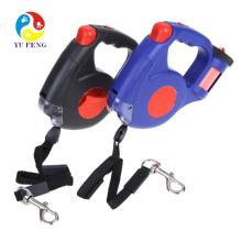 Laisse de chien flexible de haute qualité, laisse de chien automatique avec lumière LED et laisse de chien en plastique