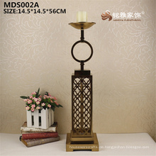 Großhandel Überzug Gold Farbe hohe Metall Statue Teelicht Kerzenhalter