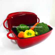 Top Quality Cast Iron Enamel Rectangular Dish