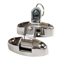 Bimini Top Stainless Steel Swivel Deck Hinge with Rubber Pad
