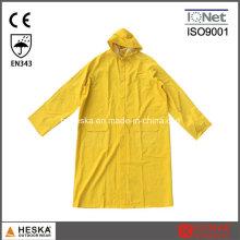Poncho de chuva adulto de longa capa de chuva PVC reutilizável 0,3 mm