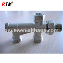 Forged brass angle radiator valve
