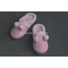 pink fuzzy super warm indoor plush slipper
