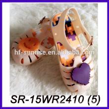 Zapato del cabrito de los estilos del melissa para las sandalias transparentes plásticas de las muchachas zapatos transparentes