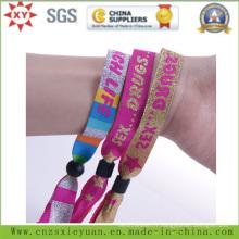 Bracelet tissé en nylon personnalisé promotionnel avec Rdif pour événements