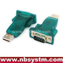Adaptador USB para RS232, USB Um macho para db9 macho