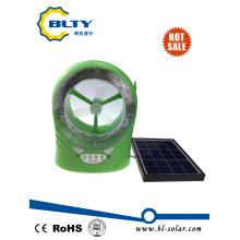 Mini ventilador de refrigeración solar con luz LED y función de radio