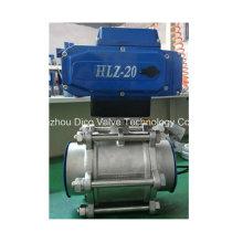 Kugelventil des elektrischen Antriebs-Edelstahl-3PC