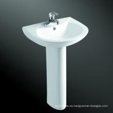 lavabo y pedestal de porcelana