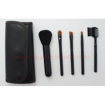 Échantillon gratuit 5PCS Black Nylon Cosmetic Brush Set