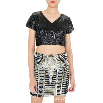 Mini Boutique Sequin kjol