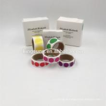 personalizado troquelado adhesivo de codificación de color rollos 1/2 pulgada