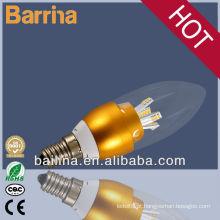 2013 iluminacion conduziu a luz de vela dourada bulbo led luzes