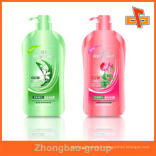 Guangzhou manufacturer wholesale printing and packaging material custom sticky metal shampoo bottle label