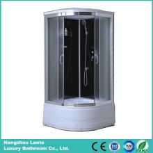 Cofre de chuveiro de moldura em liga de alumínio de vidro temperado (LTS-606)