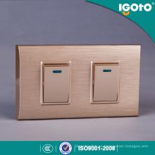 Igoto New South America Material PC 1/2/3/4 Gang Interruptores de pared