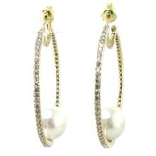 Hochwertiger neuer Entwurf für Perlen-Ohrring-925 silberne Schmucksachen der Frau (E6534)