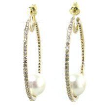 Top Quality New Design for Woman′s Pearl Earring 925 Silver Jewelry (E6534)