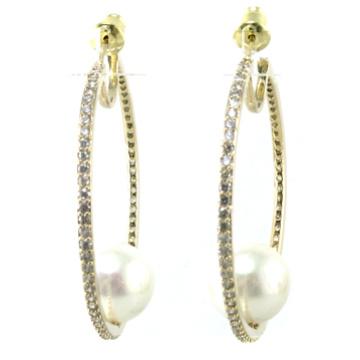 Высокое качество Новый дизайн для женщин серьги перлы 925 серебряных ювелирных изделий (E6534)