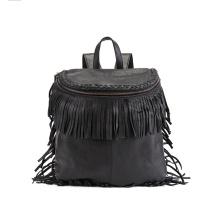 Fashion Ladies Tassel Backpack PU Fringe Daypack Wzx1117