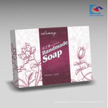 Reciclado personalizado caixa de papelão de embalagem de papelão cosmético rígido para sabonetes feitos à mão