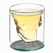 Hot sale skull shape glass cup