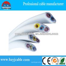 Cable eléctrico subterráneo Cobre / CCA Conductor PVC Funda Cable de funda plana