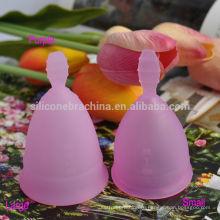 Кубок медицинского силикона менструальная для женщин женского рта продукт