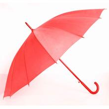 Parapluie droit auto-pur rouge pure (BD-57)
