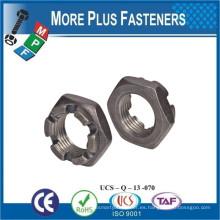 Fabricado en Taiwán DIN 937 Tuerca hexagonal baja hexagonal DIN 937 Tuerca hexagonal baja hexagonal