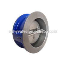 ductile iron wafer type dual plate/disc check valve