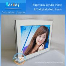 "Acrylic frame full hd 15"" lcd digital photo frame"